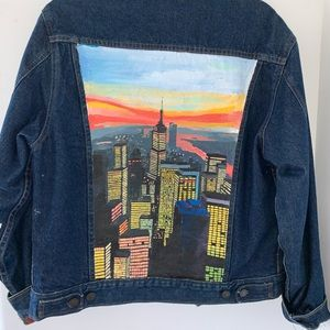 Hand painted by local artist, Vintage Jean jacket